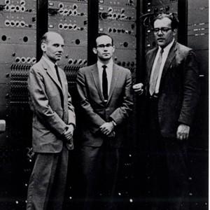 Milton Babbitt, Peter Mauzey, and Vladimir Ussachevsky with the RCA Mark II Synthesizer, 1959
