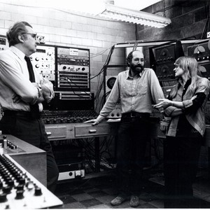 Mario Davidovsky, Art Krieger, and Pril Smiley at the Electronic Music Center
